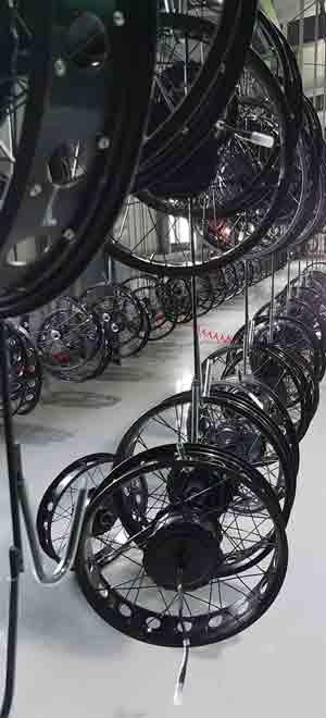 Keego E-Bike Factory Wheel Assembly